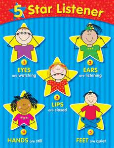 5 star listener chart learning displays
