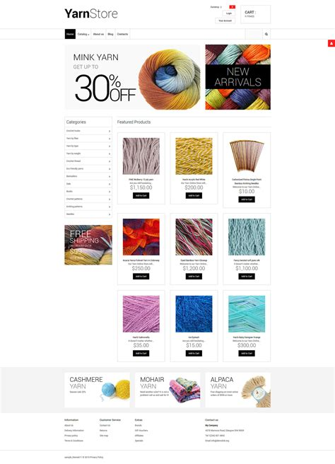demo preview for crafts responsive virtuemart template 55747