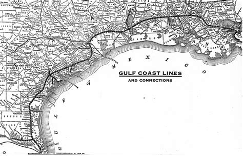 gulf coast of texas map gulf coast lines