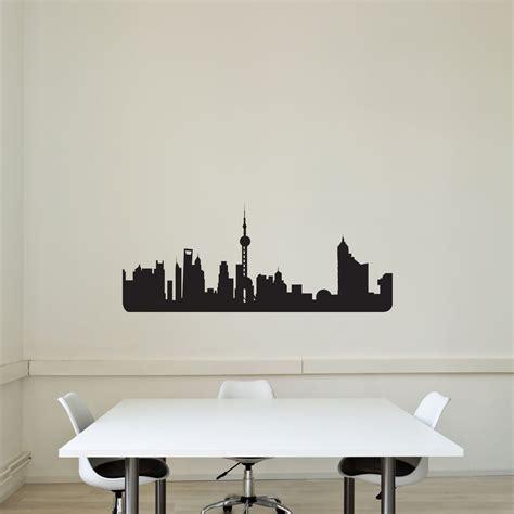 vinyl wall stickers uk shanghai city skyline vinyl wall decal vinyl revolution