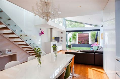 smart ideas of kitchen and living room in one place traditional victorian home transformed with a glassy