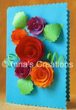 How To Make Paper Roses For Cards - how to make spiral paper flowers for cards