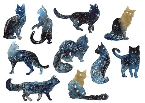 galaxy cats by threeleaves on deviantart