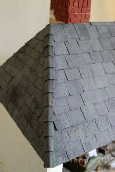 how to make dolls house roof tiles 12 roof tutorials on pinterest roof tiles slate roof and miniatures