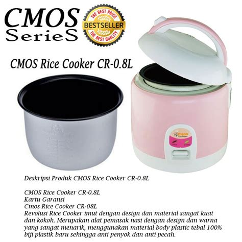 Rice Cooker Anti Lengket new promo cmos series aneka rice cooker 08 l 18