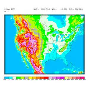 elevation map of us and canada rapid update cycle ruc