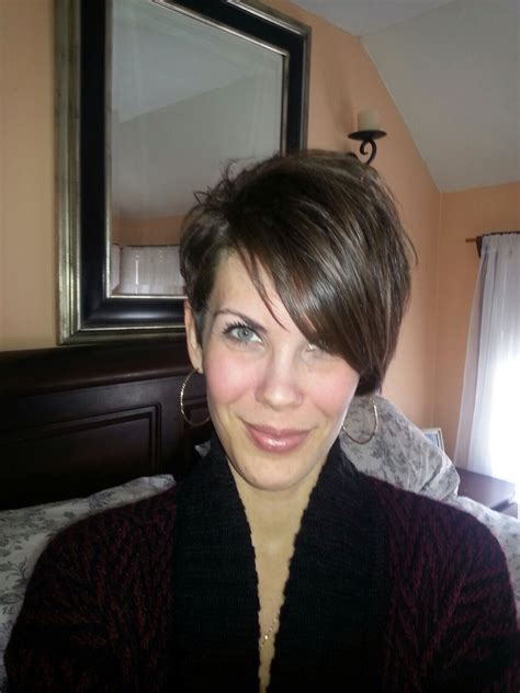 pixie cut with long front pixie cut long bangs front view hairstyles pinterest