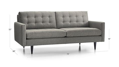 Crate And Barrel Petrie Sofa by Petrie Modern Tufted Sofa Crate And Barrel