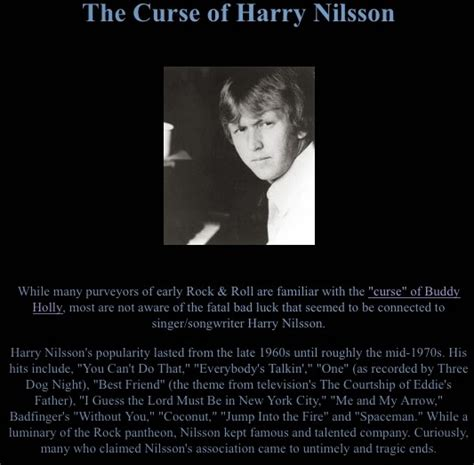 harry nilsson my best friend news spike the quot curse quot of harry nilsson