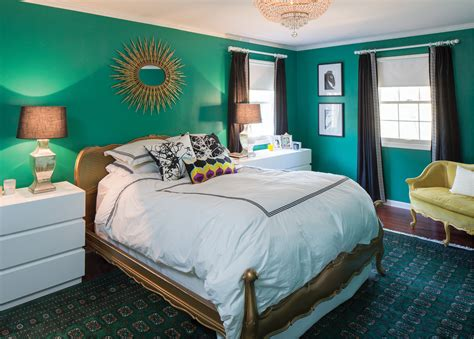 gold and green bedroom bright bold and unusual in carmel indianapolis monthly
