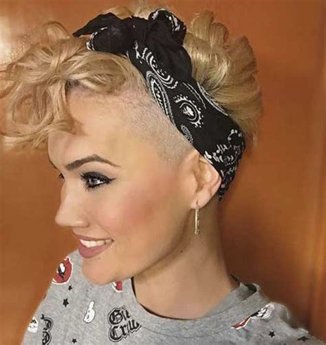 images of bob cut styled with bandanas incredble curly pixie cuts you will love short