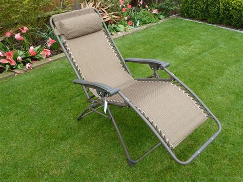 recliner garden chair set of 2 brown multi position garden recliner relaxer