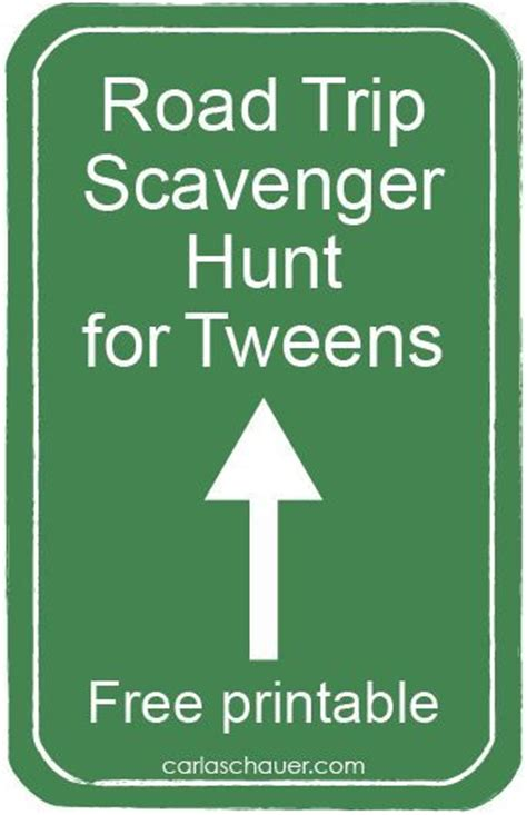 printable road trip games for tweens travel scavenger hunt for tweens trip games mom and