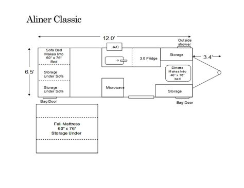 aliner floor plans aliner classic floor plan pop up cers