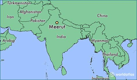 meerut on india map where is meerut india where is meerut india located