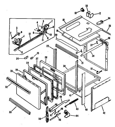 hotpoint oven parts diagram hotpoint electric range oven parts model rf764 04