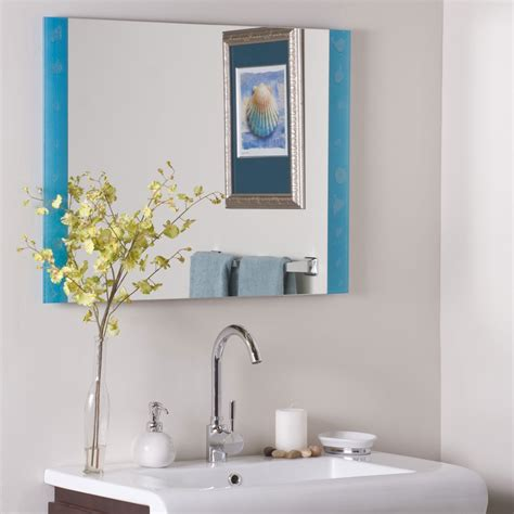 decor wonderland amelia modern bathroom mirror beyond stores the spa frameless bathroom mirror by decor wonderland in