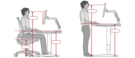 Desk Top Height by Ergonomic Office Desk Chair And Keyboard Height Calculator