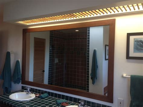 Custom Made Mirrors For Bathrooms Handmade Bathroom Mirror Frame Custom Light Cover By Dagan Design Custommade