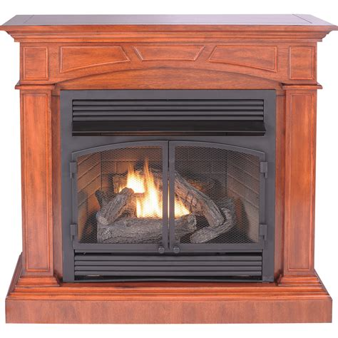 product procom dual fuel vent free fireplace with corner