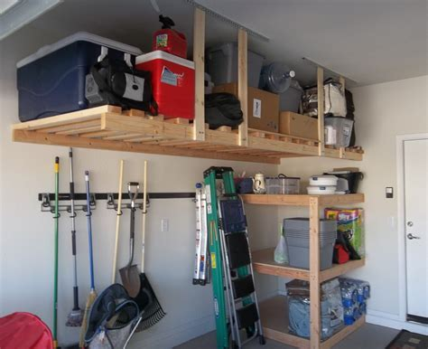 Saving Small Spaces Garage Makeover Design With Custom DIY Ceiling Storage Ideas