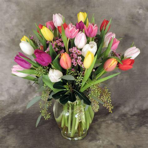 Vase Tulips by Garden Vase Of Tulips Kremp