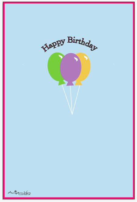 early birthday card template greeting card templates