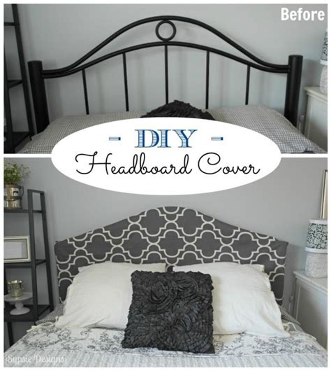 how to make a headboard cover remodelaholic easy no sew headboard slipcover tutorial