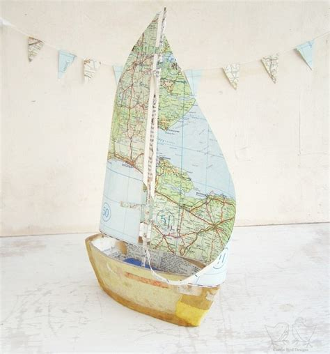 Boat With Paper - paper mache boat crafty