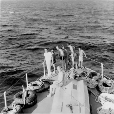 bow of a boat in spanish florida memory treasure hunters assembled at the bow of
