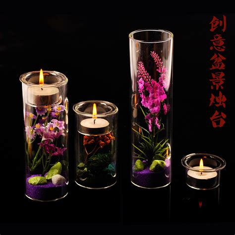 diy glass vase decorations aliexpress buy patent creative diy potted candlestick glass candlestick dinner candle