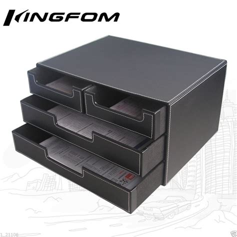 black desk with file drawer 4 drawer 3 layer leather desk file cabinet file tray