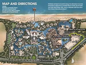 jumeirah resort map madinat jumeirah map