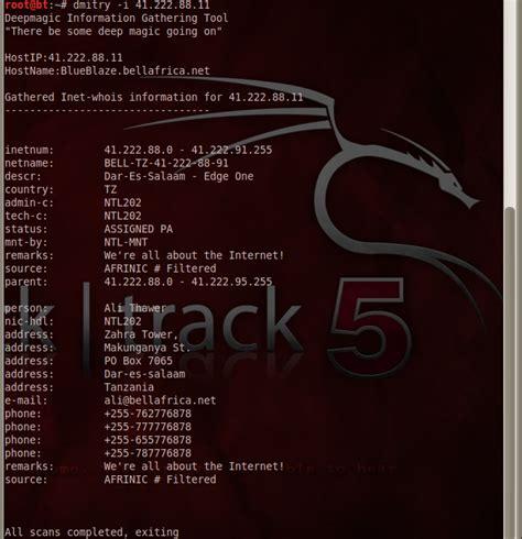 tutorial dmitry kali linux computer expert hackers dmitry deepmagic foot