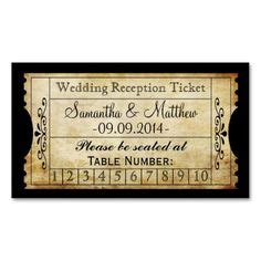 printable punch out tickets 1000 images about escort seating and place card ideas