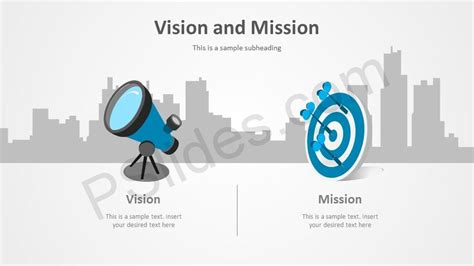 vision statement template free vision and mission powerpoint template