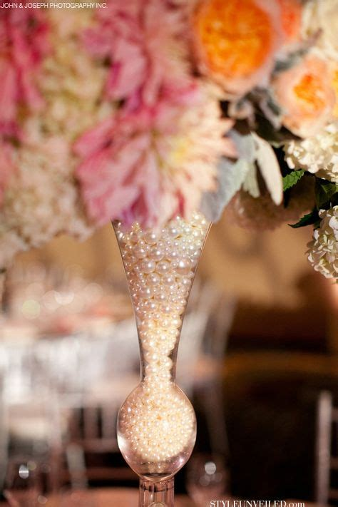lace and pearls themed wedding centerpieces and decorations weddingbee