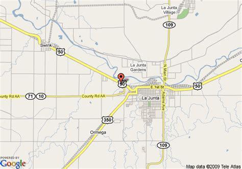 map of la junta colorado map of 8 motel la junta la junta