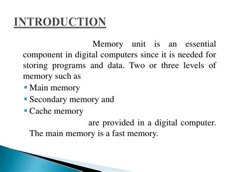 Memory Organisation Ppt Final Presentation Memory Powerpoint