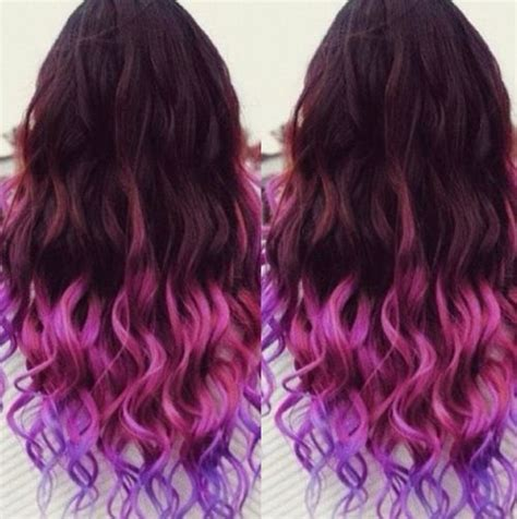 7 Tips For Dying Your Hair Brown by Best 25 Purple Dip Dye Ideas On