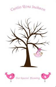 baby shower tree baby guest book alternative sweet thumbprint tree fingerprint tree with baby and birds