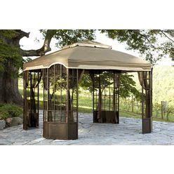 Replacement Canopy For Bay Window Gazebo At Mygofer Com Garden Oasis Pergola Replacement Canopy