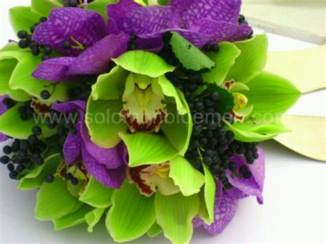 green and purple flower bouquet shades of purple pinterest