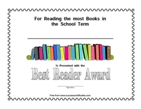 which is the best ereader best reader award certificate certificate templates