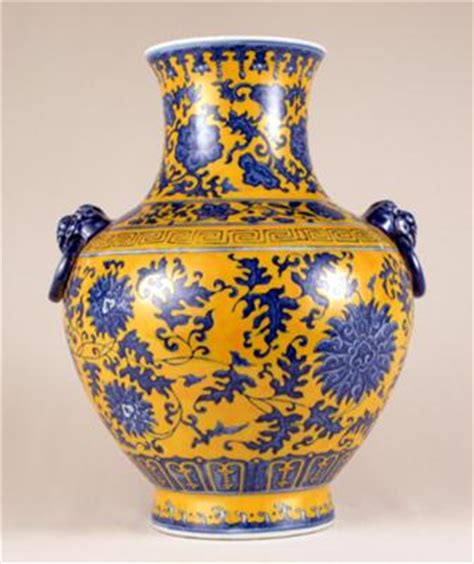 Blue And Yellow Vase Blue And Yellow Vase