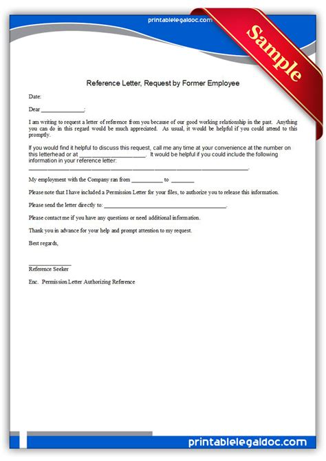 ideas of letter of reference for former employee in letter
