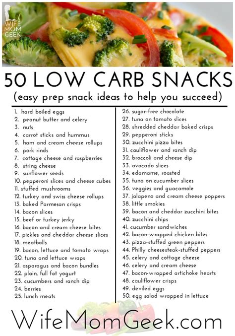 zero carbohydrates diet 50 low carb snack ideas