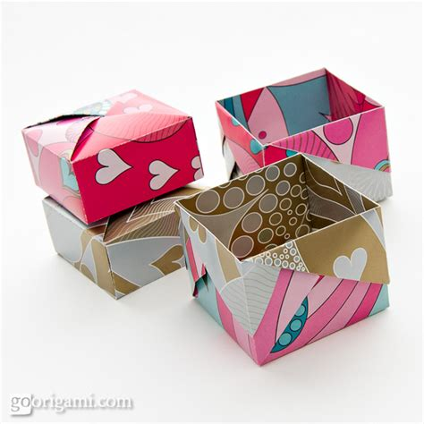 Paper Folded Box - origami boxes and dishes gallery go origami