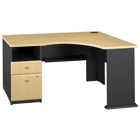 Beech Corner Desk Bush Business Series A 2 Drawer Pedestal Corner Desk In Beech Sra032be
