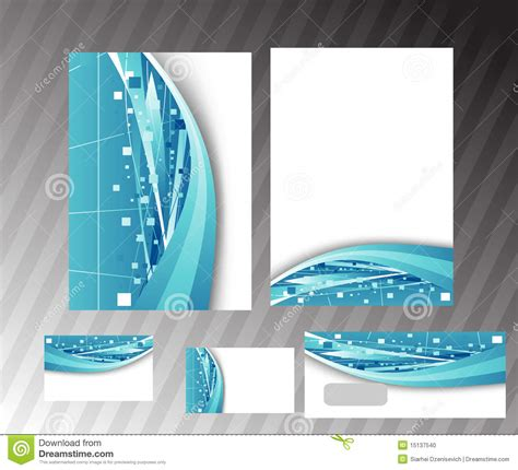 corporate hi tech folder template stock photo image